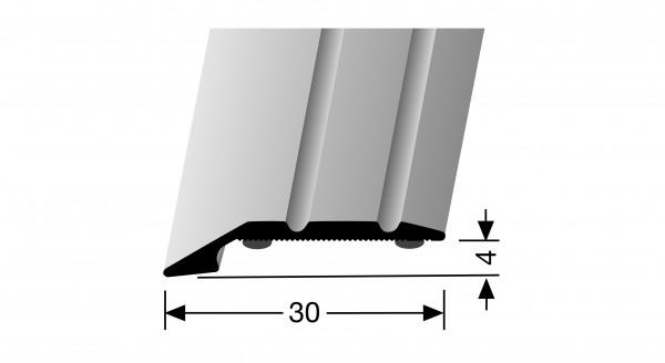 Anpassprofil, PF 240 SK, 30x4mmx0,9m, Alu elox. Edelstahl, selbstklebend,