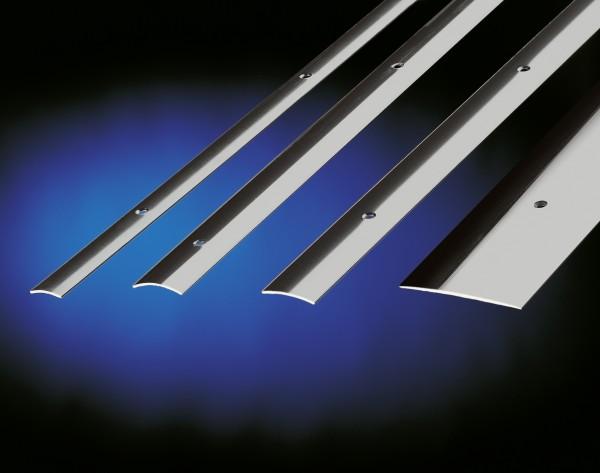 Übergangsprofil, PF 455 S, 50x1,2mmx2m, edelstahl matt gebürstet, seitlich versenkt gebohrt