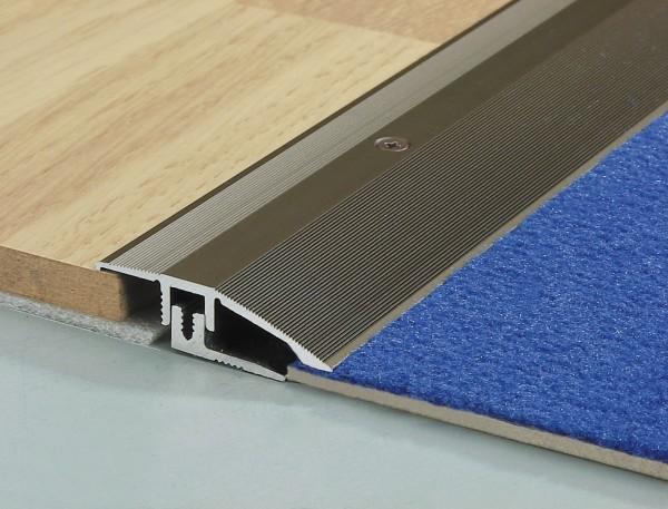 TwinSmall Anpass-Profil PF 386TS,Alu eloxiert silber, 0,9 m lang, 44mm breit,Schraub-/Clicksystem