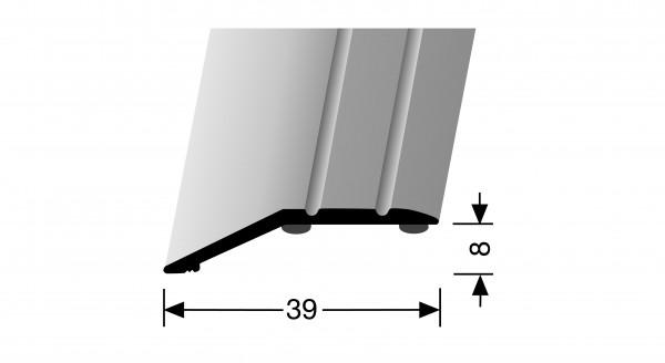 Anpassprofil, PF 244 SK, 39x8mmx0,9m,Alu eloxiert sand, selbstklebend,