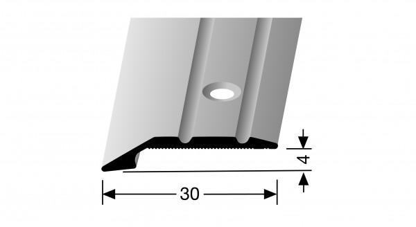 Anpassprofil, PF 240, 30x4mmx0,9m, Alu eloxiert silber, versenkt gebohrt