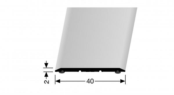 Übergangsprofil, PF 441SK, 40x2 mmx2m Alu elox edelstahl,selbstklebend