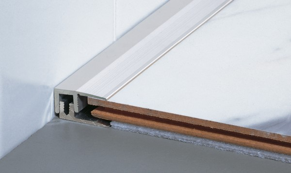 TwinSmall End-Profil PF 387TS,Alu eloxiert sand, 1,8m lang,22mm breit Schraub-/Clicksystem