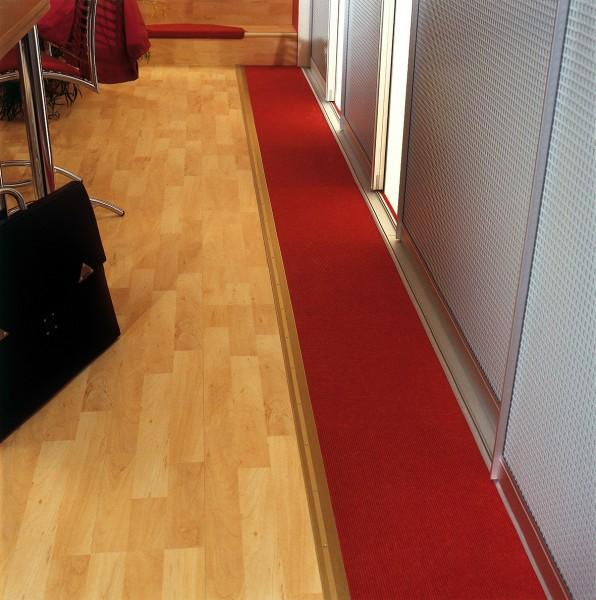 TwinSmall Anpass-Profil PF 386TS,Alu eloxiert silber,1,8m lang,44mm breit,Schraub-/Clicksystem