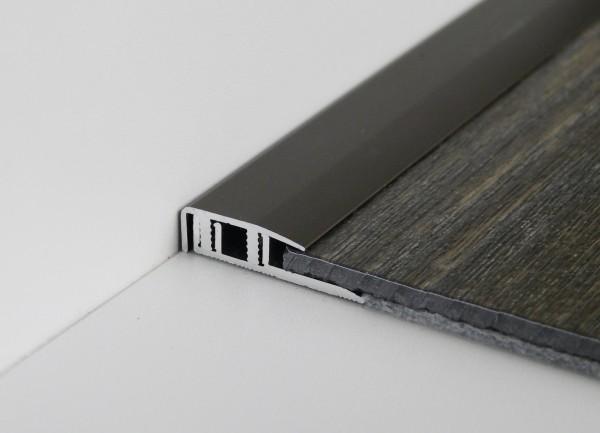 Premium Click End PF 577 V, Alu eloxiert edelstahl fein geschl.,0,9m lang, 20 mm breit