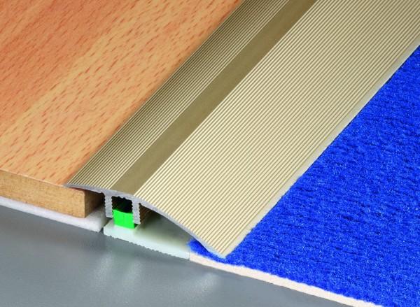 Multi-Light Ausgleich Profil PF 686 45mm breit 0,9m lang Alu eloxiert sand, niedrige Stufe
