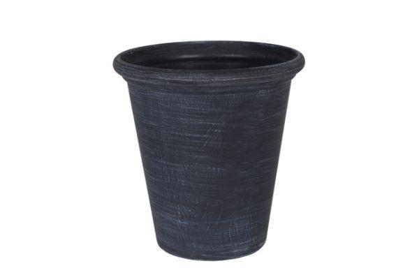 """Artstone Blumentopf """"Natural"""" rund in schwarz ausgewaschen"""