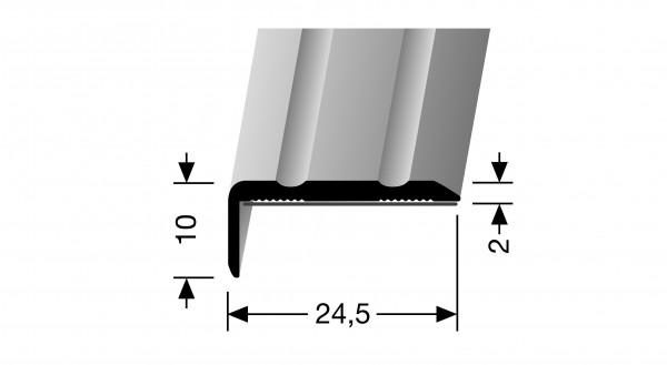 Winkelprofil, PF 236 SK, 24,5x10x2mm,1m lang, Alu eloxiert sand,selbstklebend