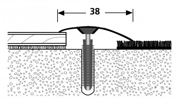 PFE-Light Ausgleich PF 186,Alu eloxiert sand, 0,9m lang, 38mm breit,