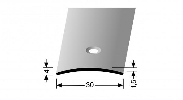 Übergangsprofil PF 459, 30x1,5mmx 1m Alu elox. silber,mittig versenkt gebohrt