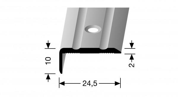 Winkelprofil, PF 236, 24,5x10x2,0mm, 1m lang, Alu eloxiert silber